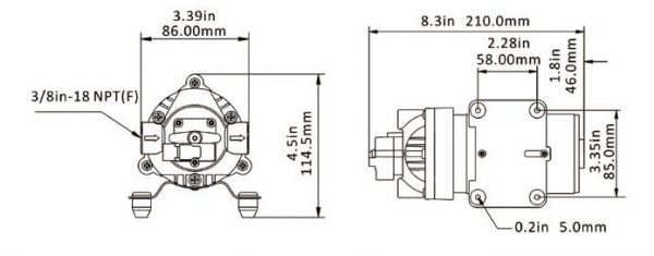 Seaflow 12v schemat pompy